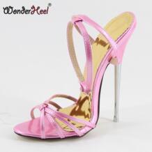 /пикантные женские босоножки из искусственной кожи на очень высоком каблуке 16 см Здравствуйте с ремешком и пряжкой WONDERHEEL 2042981605