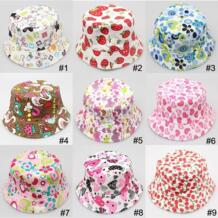 2019 детская шляпа от солнца в горошек с фруктовым принтом шляпы от солнца летняя Панама милые детские кепки s женские солнцезащитные пляжные шляпы мальчик девочка Праздничная Кепка 1,5-3 года No name 32614071707