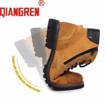 /Новое поступление; мужские камуфляжные сапоги из натуральной кожи на резиновой подошве; мужчины весна осень; обувь для работы на открытом воздухе; Желтая замшевая обувь; Botas-in Базовые сапоги from Обувь on Aliexpress.com | Alibaba Group qiangren 32829404483