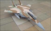 1:32 F-15I истребитель Eagle, Израиль, самолет воздушного флота, модель 3D бумажная модель, бумага, ремесло, картонный дом для детей, бумажные игрушки No name 32980480379