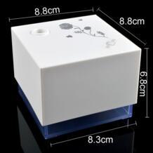 Grtco мини 300 мл USB квадратный стенд форсунки Очиститель Распыление Увлажнитель воздуха диффузор туман влаги для Офис белый No name 32511403899