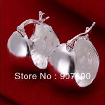 E052 Заводская цена оптовая продажа серебряные ювелирные изделия небольшие серьги обруча для женщин Одежда высшего качества No name 855279014