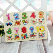 Бесплатная доставка Детские цифровой макияж игрушки, цифровой головоломки, Монтессори учебных пособий, детские игрушки деревянные игрушки No name 1724165973