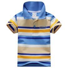 Новые летние футболки в полоску для маленьких мальчиков, детские топы, футболки-поло для детей 1-7 лет WEIXINBUY 32841893868