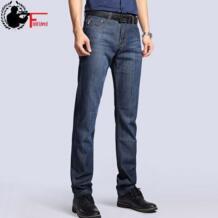 Большие размеры плюс 40 42 2019 nian Jeep Брендовые мужские джинсы Классическая мужская одежда повседневные джинсовые брюки мужские обычные брюки синего Джинса мужские FIELD LIVED 32646107898