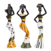 Mayitr 3 шт. экзотические смолы Африканской Леди Набор фигурок статуя орнамент для Книги по искусству домашний стол декоры Скульптура No name 32879950793