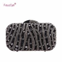 Fawziya кошелек сумка дождь точка горный хрусталь кошелек с украшениями в виде кристаллов клатч вечерняя сумочка; BS010 No name 2050559486