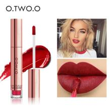 12 цветов, лучшие продажи, хит, косметика, макияж, блеск для губ, длительное действие, водостойкая, легко носить, матовая губная помада O.TWO.O 32801770143
