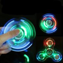 Светящийся светодиодный Спиннер Figet Spinner ручной Спиннеры-мячики Светящиеся в темноте светящиеся EDC Figet Spiner Бэтмен пальчиковые игрушки для снятия стресса SCCJGL 32841774534