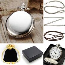 Стимпанк чистого серебра карманные часы цепь ожерелье/Подарочная коробка для кулона Сумка Набор P300CKWB YISUYA 32341263401