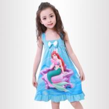 Детская ночная рубашка принцессы Новинка 2018 детская Костюмы летняя ночная рубашка из хлопка для маленьких девочек девушки слинг Лук пижамы No name 32855540172