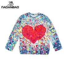 NADANBAO Европейская популярная Moleton Женская негабаритная Толстовка с надписью LOVE Heart цифровая Женская одежда с принтом No name 32264934896