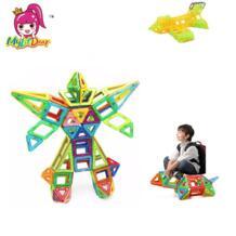 100 шт. Мини Размеры Магнитная здания Конструкторы строительство магнитные дизайнерские игрушки модель комплект для строительства игрушечные лошадки для детей магнит потянув MylitDear 32834638863