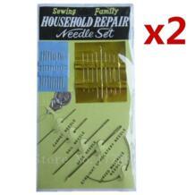 2 Pack = (50 шт.) стороны Швейные иглы Набор бытовой ремонт нити изогнутые обивка ковер AA7366 No name 32448634380