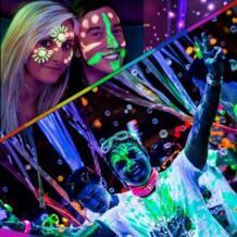 Модные неоновые Цвет макияж тела лицо Краски ing УФ реактивной флеш-тату временный Сияющий Run Glow ТЕМНОЕ МАСЛО Краски флуоресцентный HUAMIANLI 32819941868