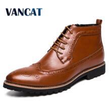 /Новое поступление; мужские Ботильоны; модельная мужская обувь; высококачественные модные ботинки «Челси»; осенние ботинки броги; повседневная обувь из мягкой кожи-in Обувь челси from Обувь on Aliexpress.com | Alibaba Group Vancat 32915455979