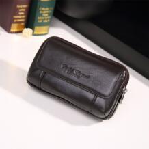 Высокое качество Новый для мужчин пояса из натуральной кожи Пояс Фанни поясная сотовый/карман для мобильного телефона сигареты/Key Case дизайнерски gold coral 32759819858