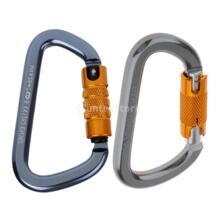 Шт. 2 шт. 28KN самоблокирующийся Карабин D форма Пряжка Карабин для связки ключей для скалолазания Альпинизм безопасность при дюльфере спасения MagiDeal 32806248625