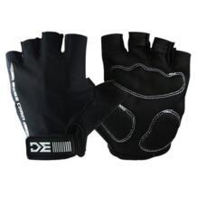 Летние велосипедные перчатки Половина Finger спортивные перчатки для велоспорта Губка Pad дышащий гонки MTB Велосипедный спорт цикл перчатки для бега (черный) WOSAWE 32824768416