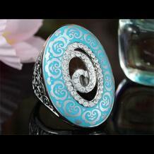 Павлин звезда Винтаж Стиль Aqua Blue, красное кольцо использовать австрийский хрусталь-CSR149 Peacock Star 752767211