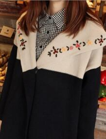 Новый ручной вышивкой смешанные цвета ветровка с капюшоном Тонкий куртки верхняя одежда женские блузки No name 32215309370