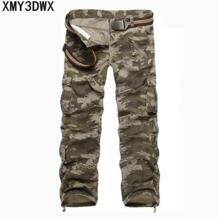 2017 Мужской камуфляж брюки для девочек для мужчин's повседневное штаны-карго мужчин s Брюки с карманами Военная Униформа общая дл XMY3DWX 32720788477