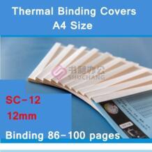 10 шт./лот SC-12 термопереплет охватывает A4 вязка клея крышка 12 мм (85-100 страниц) тепловой машинной вязки крышка No name 32828028689