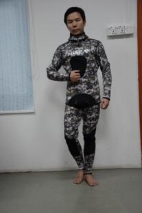Новый профессиональный Для Мужчин's Одежда высшего качества Комплект из 2 предметов 3 мм 5 мм 7 мм Camo подводной охоты водолазный костюм неопрена Мокрые одежды спорта людей No name 32770270630