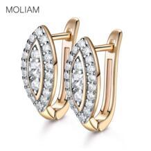 новый роскошный дизайн малых Модные серьги-кольца нуэвос белый кристалл CZ серьги ювелирные изделия для Для женщин MLE192 MOLIAM 32401916279
