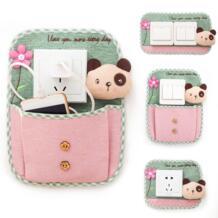 Корейские тканевые Сменные наклейки в горошек с ключом для партнеров, сумка-переключатель, чехол для мобильного телефона, зарядный карман, домашний декор No name 32735171112