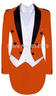 Премиум индивидуальный заказ в приспособленное мужские заказ смокинг, ORNAGE фрак (куртка + брюки + жилет No name 1860645453