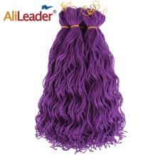 """AliLeader 20 """"крючком волосы Мини искусственной Locs Kanekalon красный блондин Фиолетовый Пакет волос Синтетический крючком вьющиеся волосы натуральный черный No name 32896769224"""
