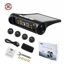 TPMS система контроля давления в шинах Солнечная зарядка ЖК-дисплей внутренние/внешние датчики Авто сигнализация Бесплатная доставка VSTM 32792502521