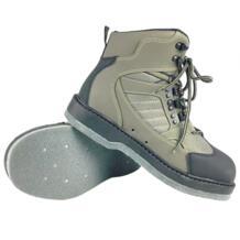 Fly Fishing обувь болотная восходящая утечка воды обувь Войлок 12 гвозди анти-скользкая подошва кожа верхний рок на шнуровке обувь FMD3 No name 32957327930