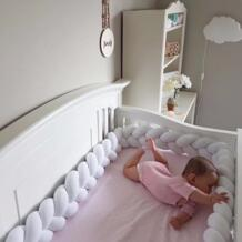 М 2 м/3 м узел Детские накладка на перила кроватки младенческой узел подушки детские новорожденных кроватки протектор, детские постельные принадлежн blueshine 32877185655