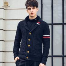 Бесплатная доставка, новая мода 2018, весенний мужской на зиму и осень, короткий кардиган, персонализированный жаккардовый свитер 825198 FANZHUAN 32935063433