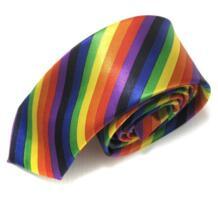 В полоску для мужчин S тонкий галстук мода полиэстер галстуки в клетку 5 см ширина gravata Галстуки радужных расцветок для corbatas Hooyi 32388935884