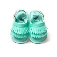 Стильная искусственная кожа с кисточками детские мокасины с кисточками для девочек детская обувь Scarpe neonata крюк и петля Уличная обувь жесткий резиновой подошвой WEIXINBUY 32641729398