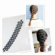 Французский стиль 2 шт. черная заколка для плетения косы плетение рыбий Бонд волны ролик для волос, фигурная булочка производитель Tress Barrette волшебный инструмент No name 32791000331