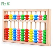 Fly AC 1 шт. математической арифметики деятельности Цвет деревянные счеты Развивающие детские игрушки No name 32301655272