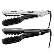 Влажный и сухой Профессиональный Выпрямитель щетка Керамический выпрямитель для волос Расческа сглаживание цифровой дисплей Салон Макс 450F Gemei 32853368506