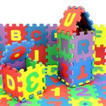 детская мягкая развивающая ползет ковры, детская игра-головоломка номер/письмо из пеноматериала EVA, коврик для детских игр 12*12 см MUQGEW 32843496600