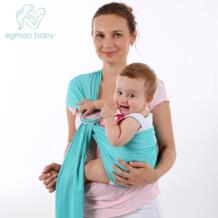 Кольцо чистая ткань подложка полотенце Удобный слинг мягкая переноска Детский рюкзак дышащий хлопок руки свободный ребенок пеленать обертывание EGMAO BABY 32833433277