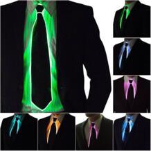 Awesome EL проволочное крепление мигающий Косплей светящийся галстук костюм безымного галстука светящиеся танцевальные маски для карнавала вечеринки классные акционные реквизиты noroomaknet 32835700964