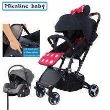 Детское yoya коляска мини-легкая переносная складная детская коляска могут быть активными, вы можете сидеть или лежать, малоенькая прогулочная коляска 3 в 1 для обеденного стула micaline baby 32950055424