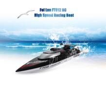 Fei Лунь FT012 RC лодки 2,4G 4CH бесколлекторный гоночный катер тройной Крышка высокого Скорость из 45км/ч RC лодка с водяным охлаждением система игрушки No name 32735050728