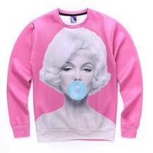 Пикантные Мэрилин Монро Bubble gum Кофты для женщин/для мужчин 3D печатных с длинным рукавом толстовки розовый Топы корректирующие бренд Sudaderas Hombre #8223 Mr.1991INC&Miss.GO 32727965559