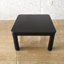 Японский стол kotatsu небольшой 60 см двусторонний Топ черный/белый Мебель для гостиной Утеплитель для ног с подогревом низкая Кофе Таблица дизайнер No name 1051510088