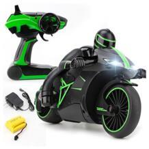2,4 г мини Модные мотоцикл RC с холодным светом высокое Скорость RC игрушки, модели мотоциклов дистанционного Управление дрейф Мотор Детские игрушки для подарка No name 32844344183