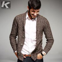 Большая распродажа Осенние мужские свитера 100% хлопок вязаный кардиган Вязание Костюмы человека Slim Fit вязаная одежда Sweatercoats 16866 No name 32515671847